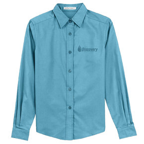 Port Authority Port Authority Ladies Long Sleeve Easy Care Shirt (Maui Blue)