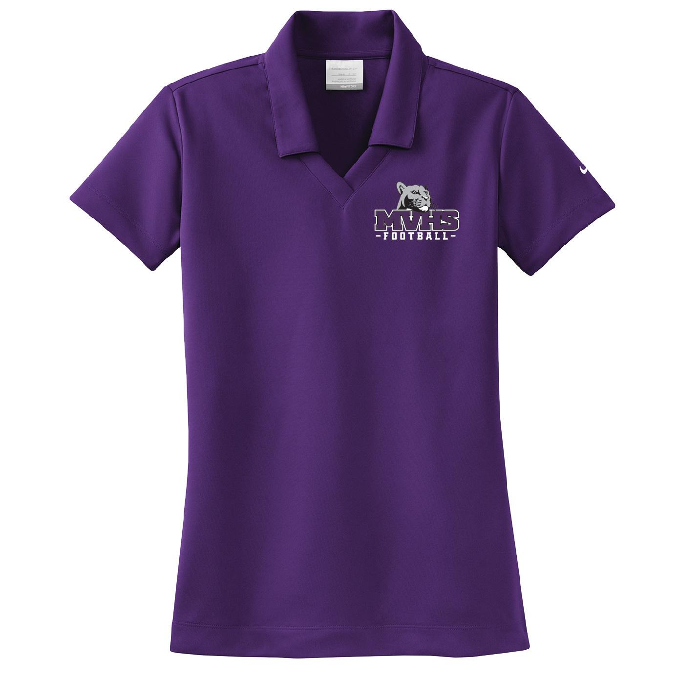Nike Nike Ladies Dri-Fit Pique Polo (Night Purple)
