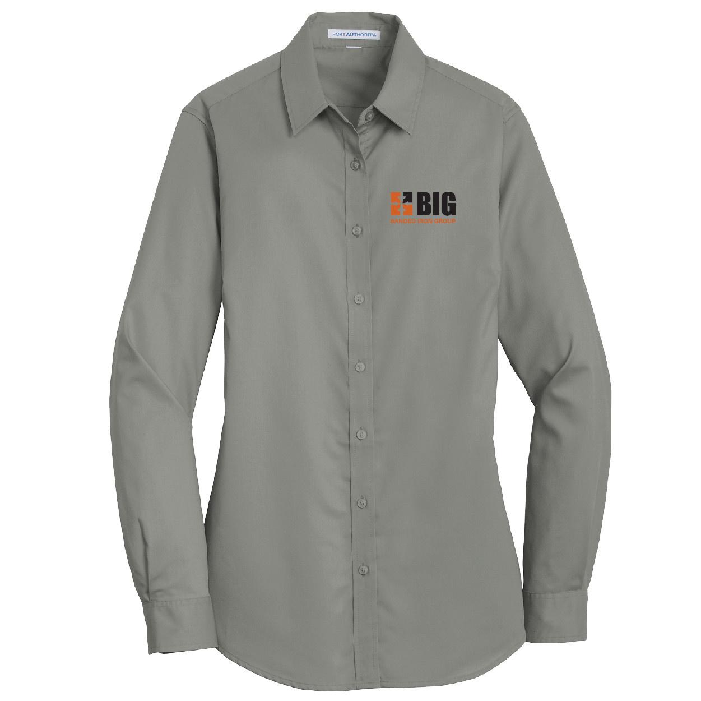 Port Authority Port Authority Ladies SuperPro Twill Shirt (Monument Grey)
