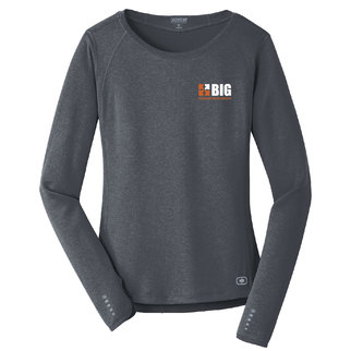 Ogio Ogio Endurance Ladies Long Sleeve Pulse Crew (Gear Grey)