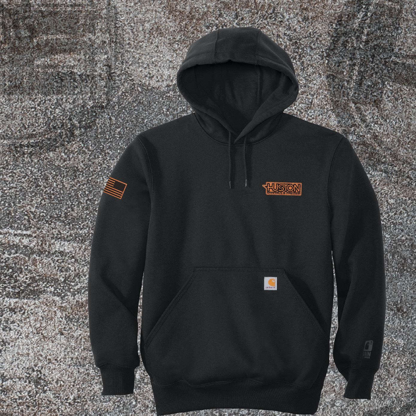 Carhartt Carhartt Rain Defender Paxton Heavyweight Hooded Sweatshirt (Black)