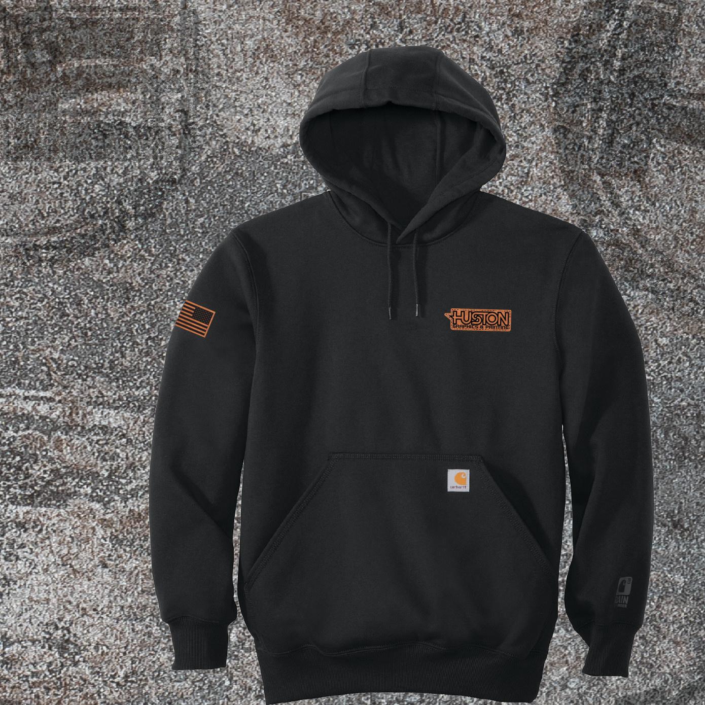 Carhartt Carhartt Rain Defender Paxton Heavyweight Hooded Sweatshirt (Black)
