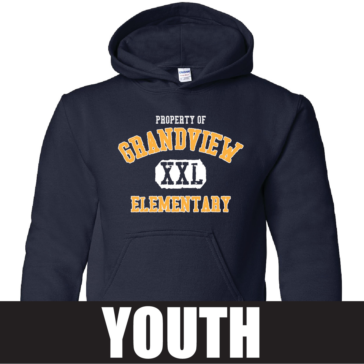 Gildan Gildan Heavy Blend Youth Hooded Sweatshirt (Navy)