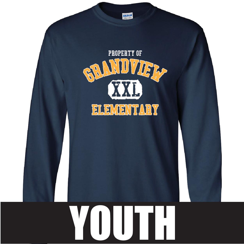 Gildan Gildan Ultra Cotton Youth Longsleeve T-shirt (Navy)