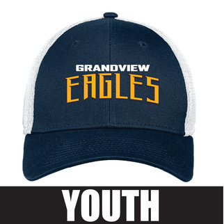 New Era Youth Stretch Mesh Cap (Deep Navy/White)