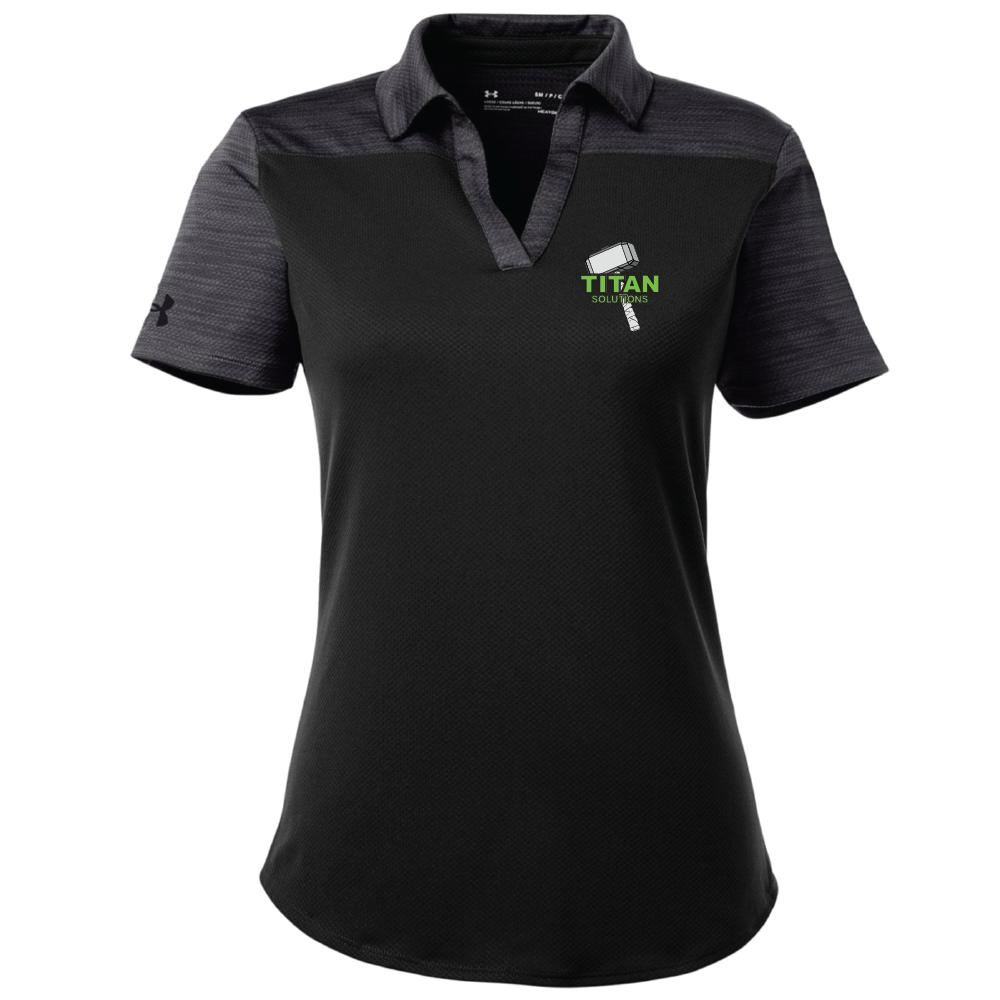 Under Armour Under Armour Ladies Corporate Colorblock Polo (Black)