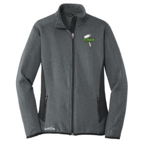 Eddie Bauer Eddie Bauer Ladies Full-Zip Heather Stretch Fleece Jacket (Dark Charcoal Heather)