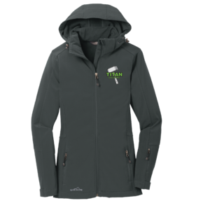 Eddie Bauer Eddie Bauer Ladies Hooded Soft Shell Parka (Grey Steel)