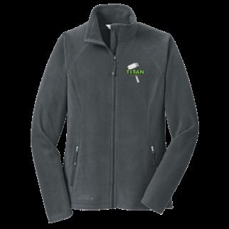 Eddie Bauer Eddie Bauer Ladies Full-Zip Microfleece Jacket (Grey Steel)