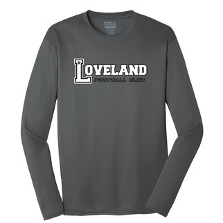 Port Authority Port & Company Long Sleeve Performance Tee (Charcoal)