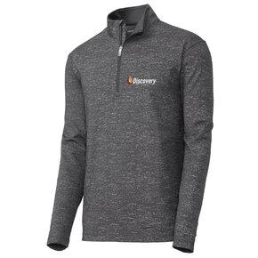 Sport-Tek ® Sport-Wick Stretch Reflective Heather 1/2-Zip Pullover (Charcoal Grey)