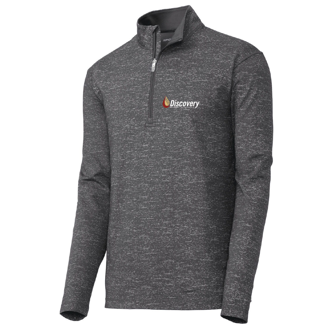 Sport-Tek ® Sport-Wick Stretch Reflective Heather 1/2-Zip Pullover (Charcoal Grey)