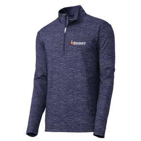 Sport Tek Sport-Tek ® Sport-Wick Stretch Reflective Heather 1/2-Zip Pullover (True Navy)