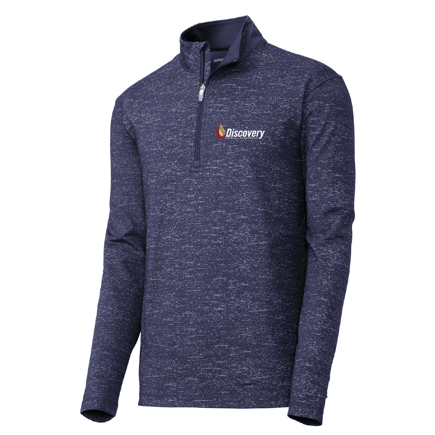 Sport Tek Sport-Tek ® Sport-Wick Stretch Reflective Heather 1/2-Zip Pullover (True Navy)