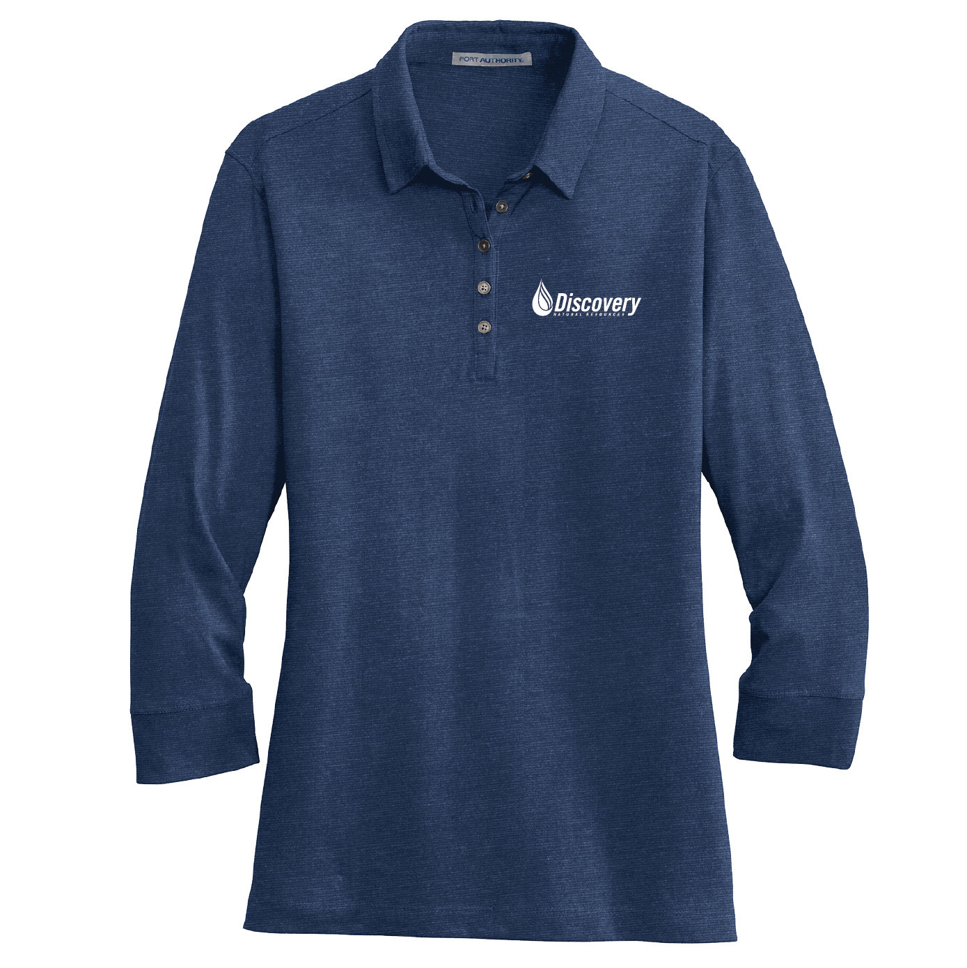 Port Authority Port Authority Ladies 3/4-Sleeve Meridian Cotton Blend Polo (Estate Blue)