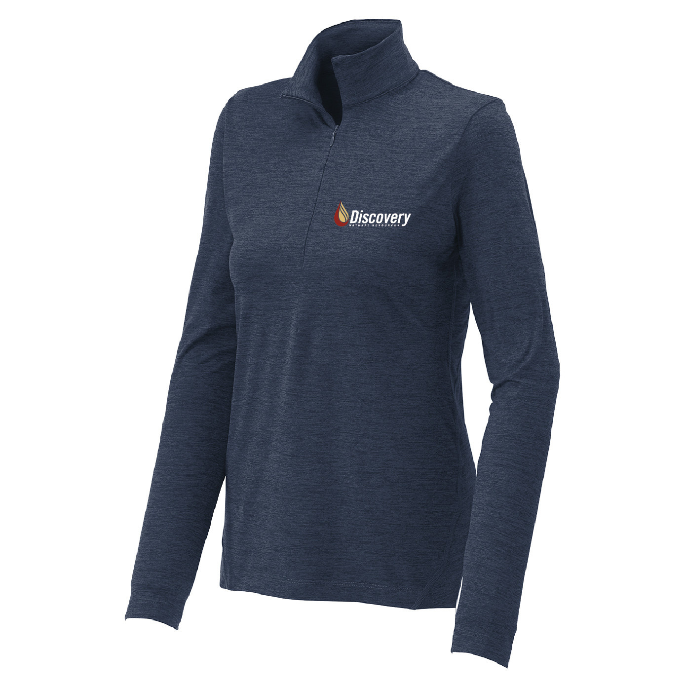 Sport Tek Sport-Tek Ladies Exchange 1.5 Long Sleeve 1/2-Zip (Dark Denim Heather)