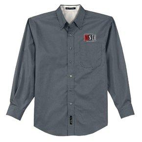 Port Authority Port Authority LS Shirt  (Steel Grey/Light Stone)