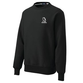 Sport Tek Sport-Tek® Super Heavyweight Crewneck Sweatshirt (Black w/white logo)