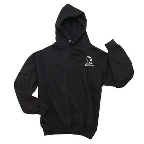 Jerzees JERZEES® SUPER SWEATS® - Pullover Hooded Sweatshirt (Black w/white logo)