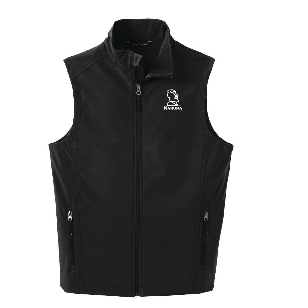 Port Authority Port Authority® Core Soft Shell Vest (Black w/white logo)