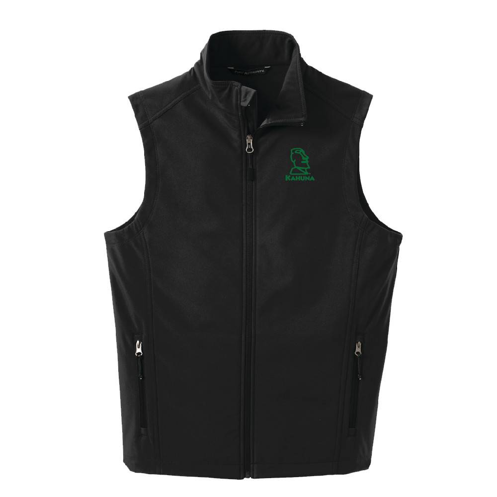 Port Authority Port Authority® Core Soft Shell Vest (Black w/green logo)