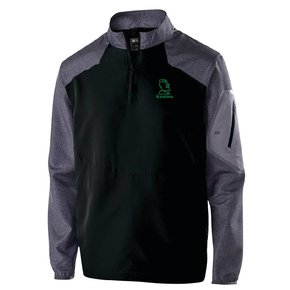 Holloway Holloway Raider Pullover (Black w/ green logo)