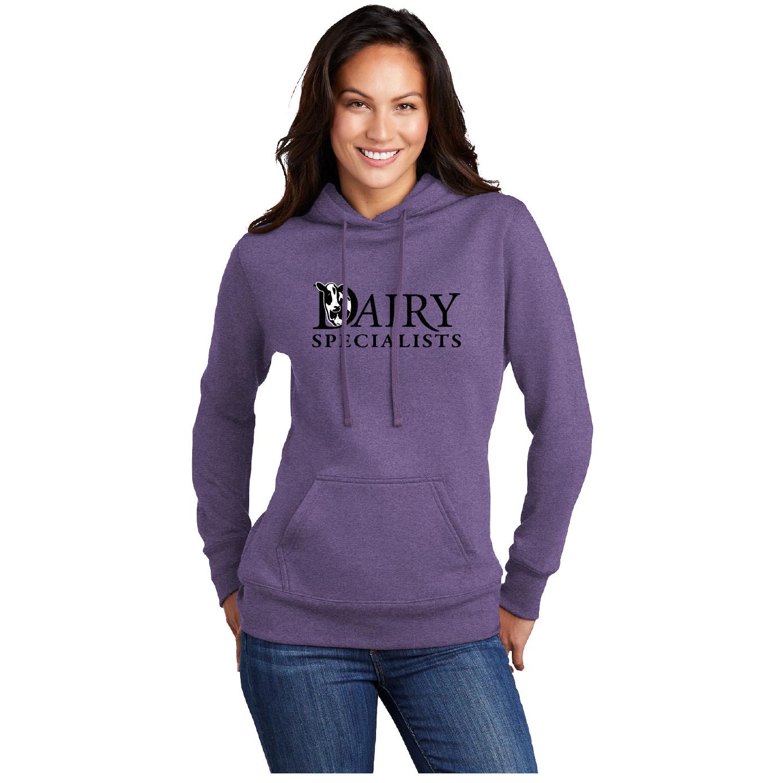 Port Authority Port & Company Ladies Core Fleece Pullover Hooded Sweatshirt (Heather Purple)
