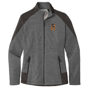 Port Authority Port Authority Ladies Grid Fleece Jacket (Grey Smoke Heather/Grey Smoke)