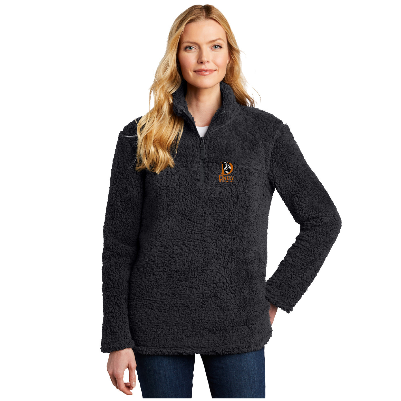 Port Authority Port Authority Ladies Cozy 1/4-Zip Fleece (Charcoal)