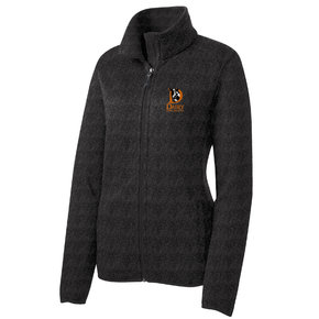 Port Authority Port Authority Ladies Sweater Fleece Jacket (Black Heather)
