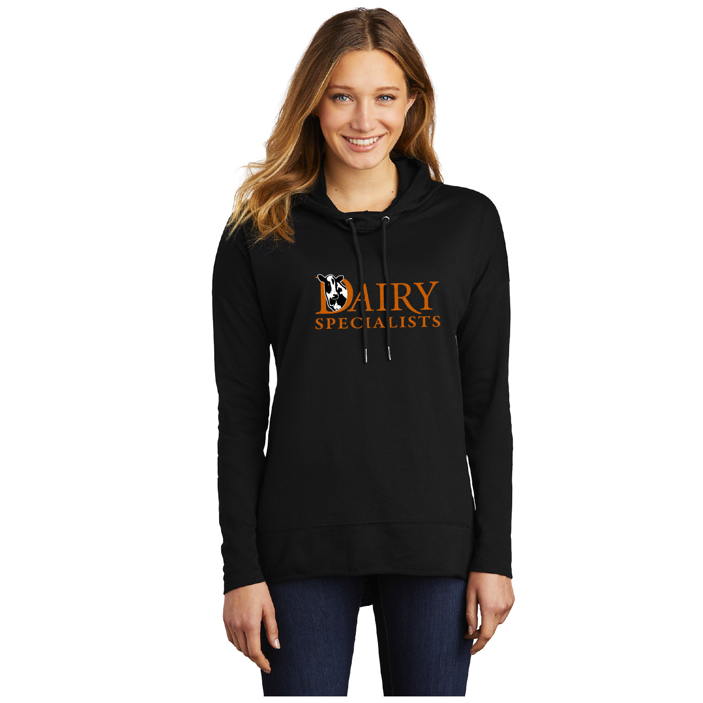 District Made District Women's Featherweight French Terry Hoodie (Black)