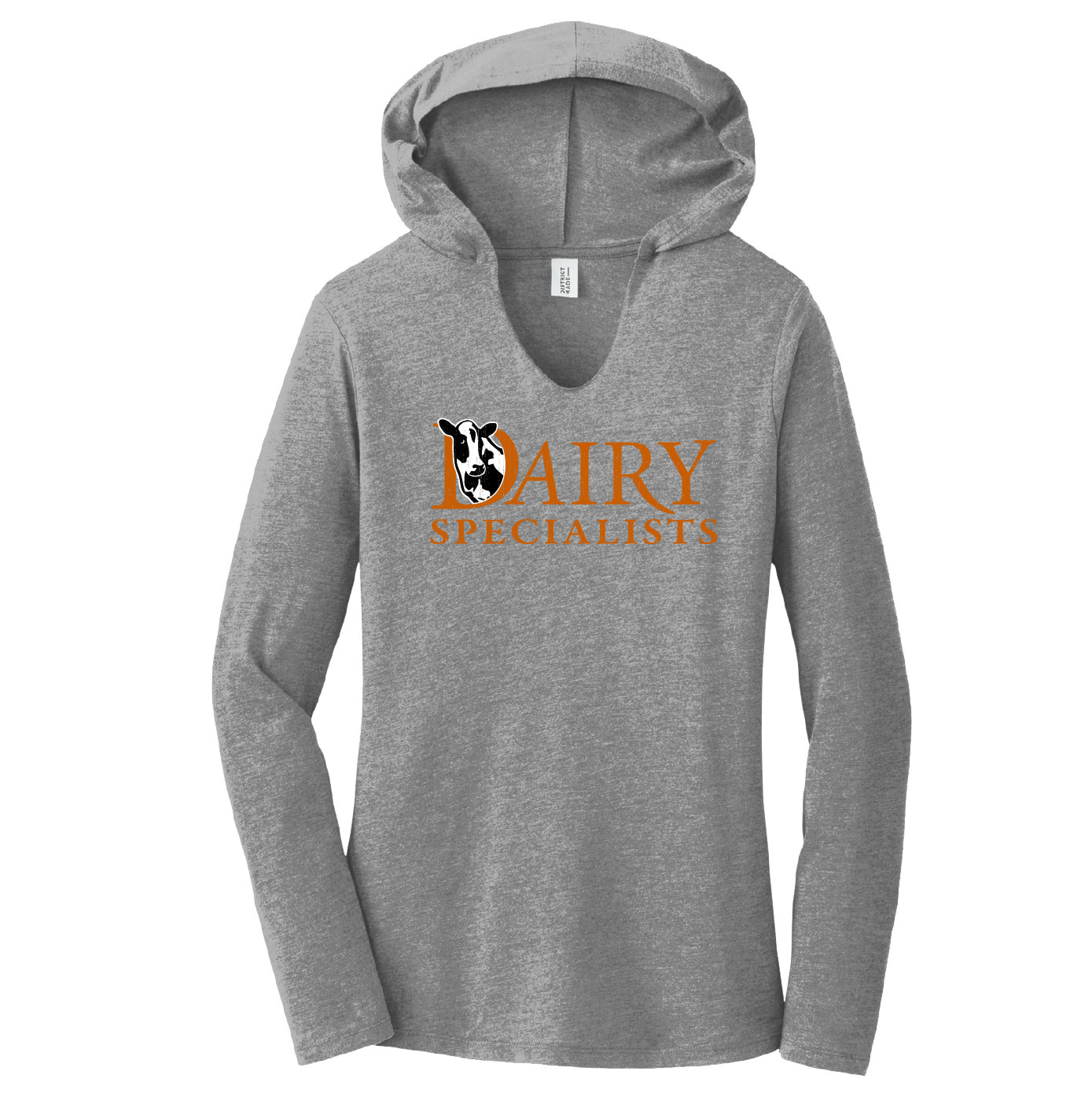 District Made District Women's Perfect Tri Long Sleeve Hoodie (Grey Frost)