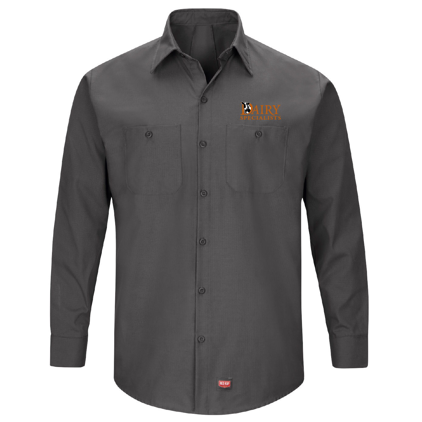 Red Cap Red Cap Men's Long Sleeve Work Shirt With Mimix (Charcoal)