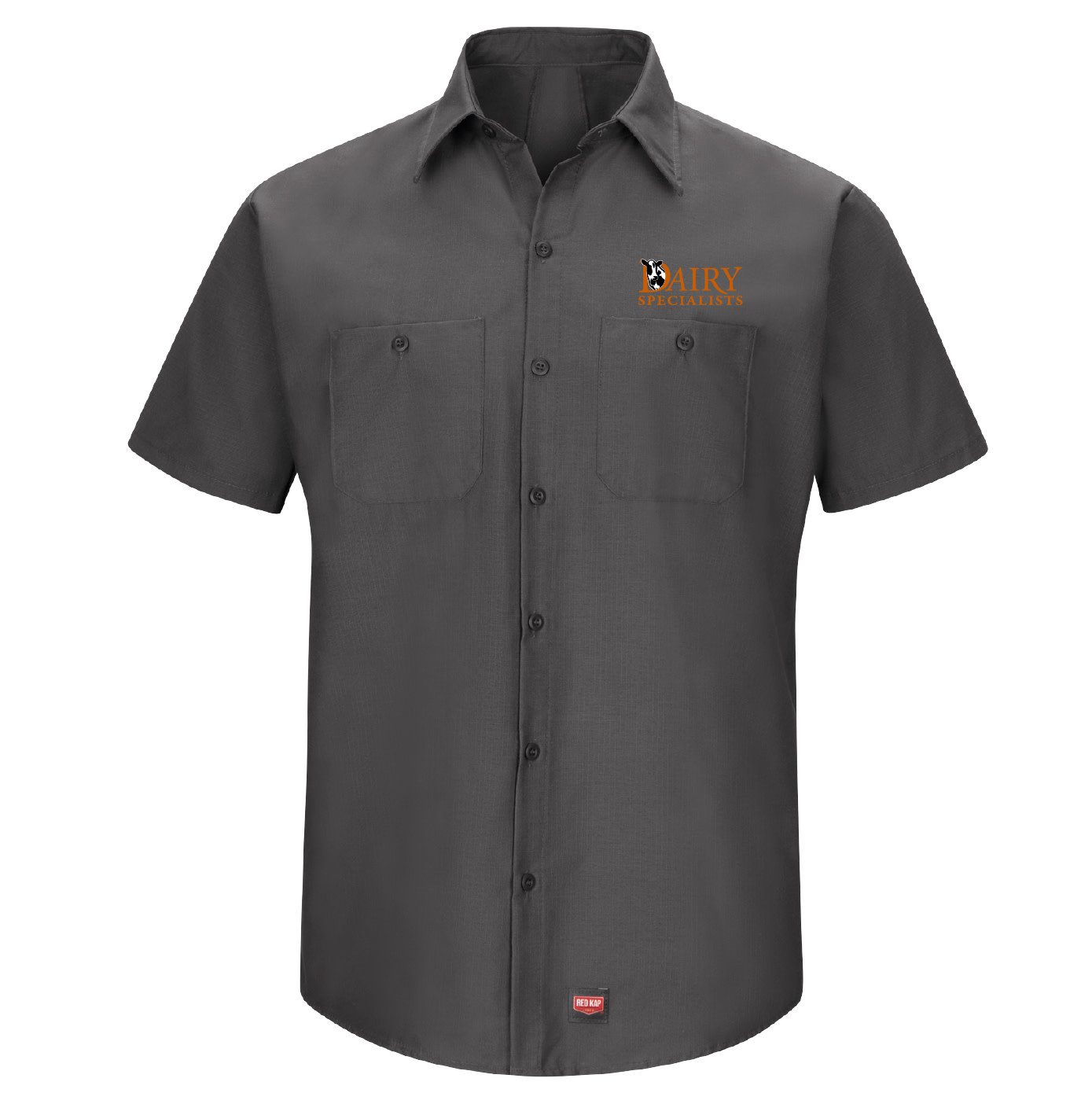 Red Cap Red Cap Men's Short Sleeve Work Shirt With Mimix (Charcoal)