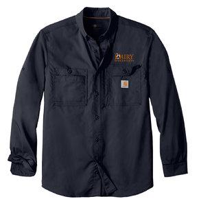 Carhartt Carhartt Force Ridgefield Solid Long Sleeve Shirt (Navy)