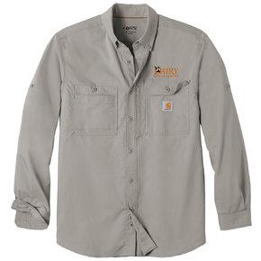 Carhartt Carhartt Force Ridgefield Solid Long Sleeve Shirt (Asphalt)
