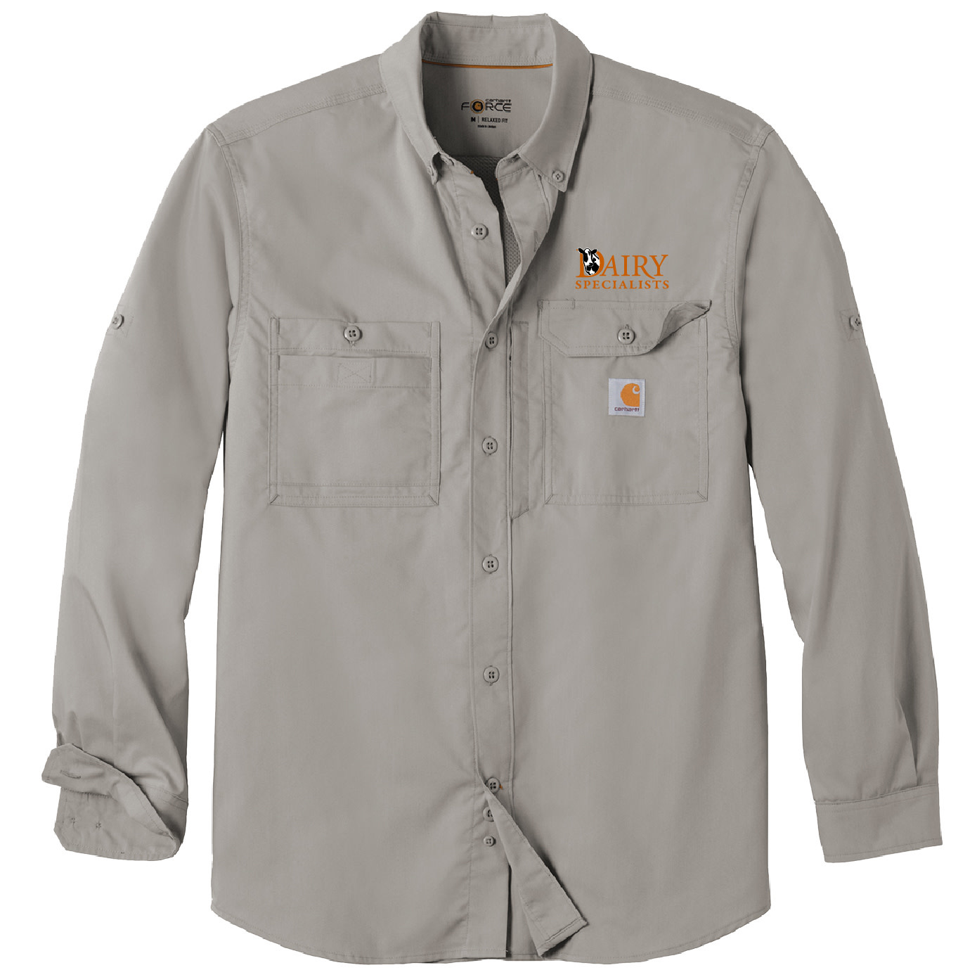 Carhartt Carhartt Force Ridgefield Solid Long Sleeve Shirt (Asphalt)