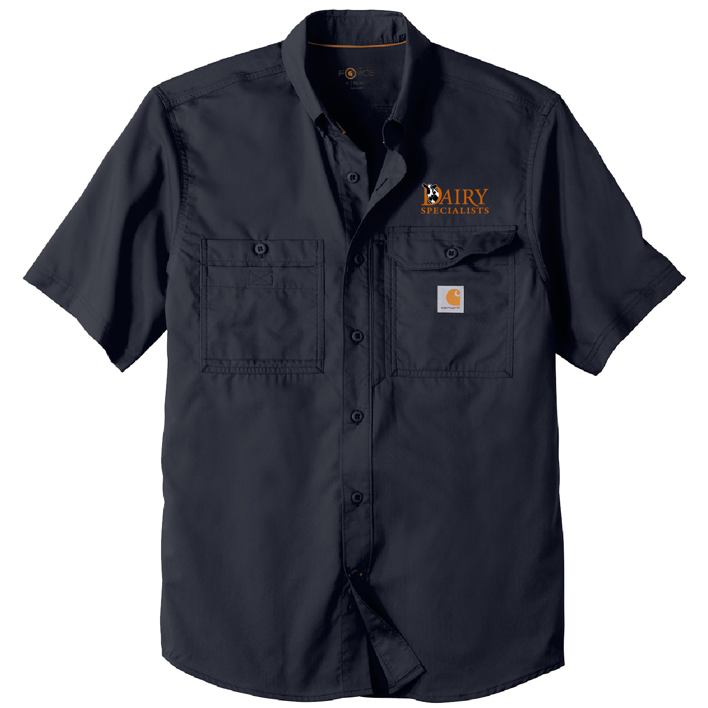 Carhartt Carhartt Force Ridgefield Solid Short Sleeve Shirt (Navy)