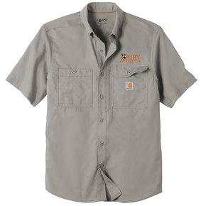 Carhartt Carhartt Force Ridgefield Solid Short Sleeve Shirt (Asphalt)