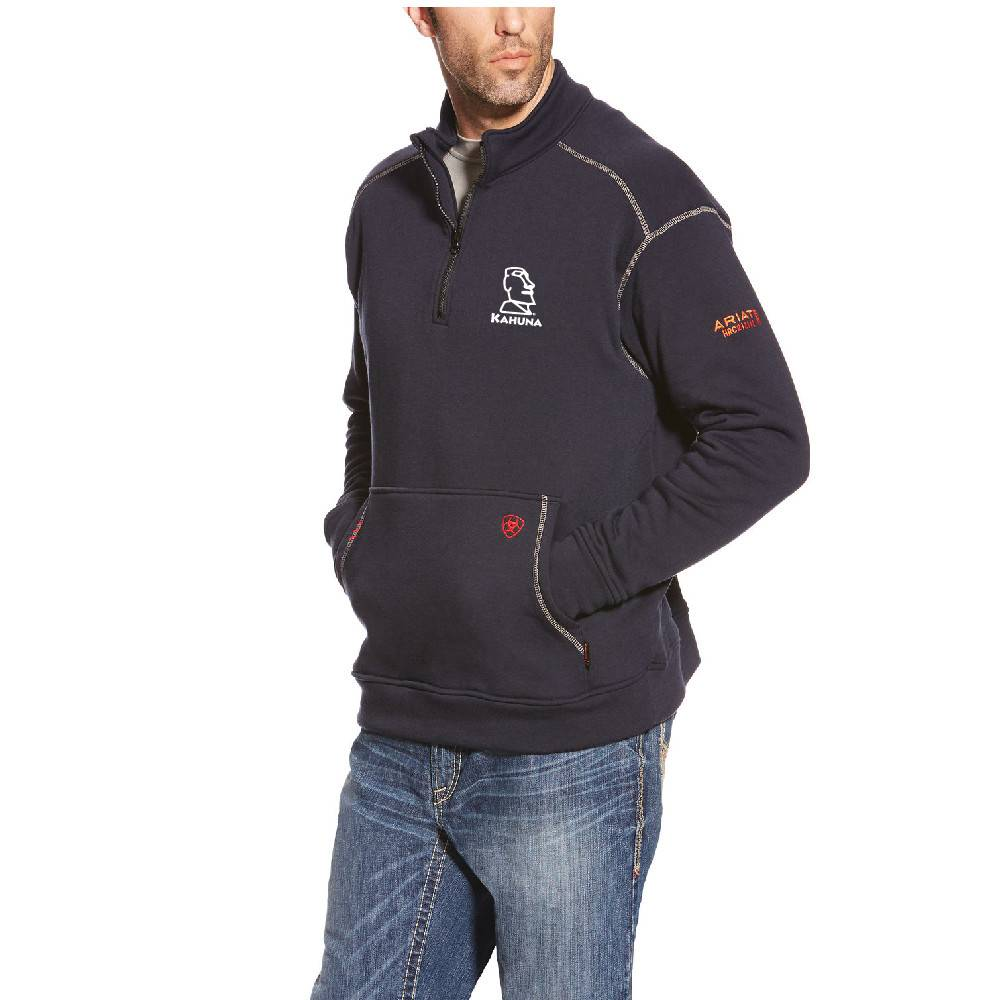 Ariat Ariat Fr Polartec 1/4 Zip Fleece ( Navy)