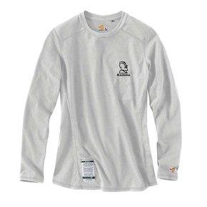 Carhartt Carhartt Women's FR Cotton Long -Sleeve Shirt (Light Grey w/black logo )