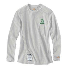 Carhartt Carhartt Women's FR Cotton Long-Sleeve Shirt (Light Grey w/green logo)