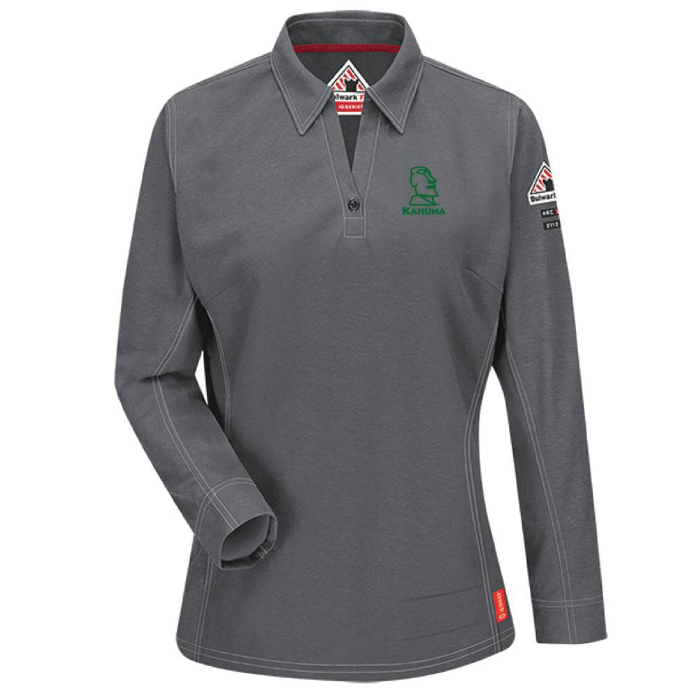 Bulwark Bulwark iQ Series ® Women's Long Sleeve Polo ( Charcoal)