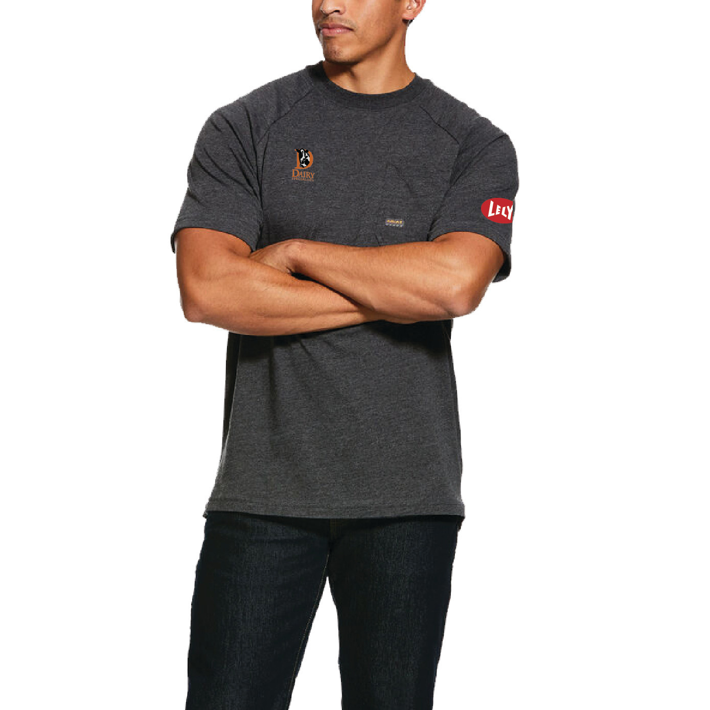 Ariat Ariat Rebar Cotton Strong T-Shirt (Charcoal Heather)