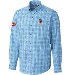 Cutter & Buck Soar Fine Line Plaid Shirt (Chambers)