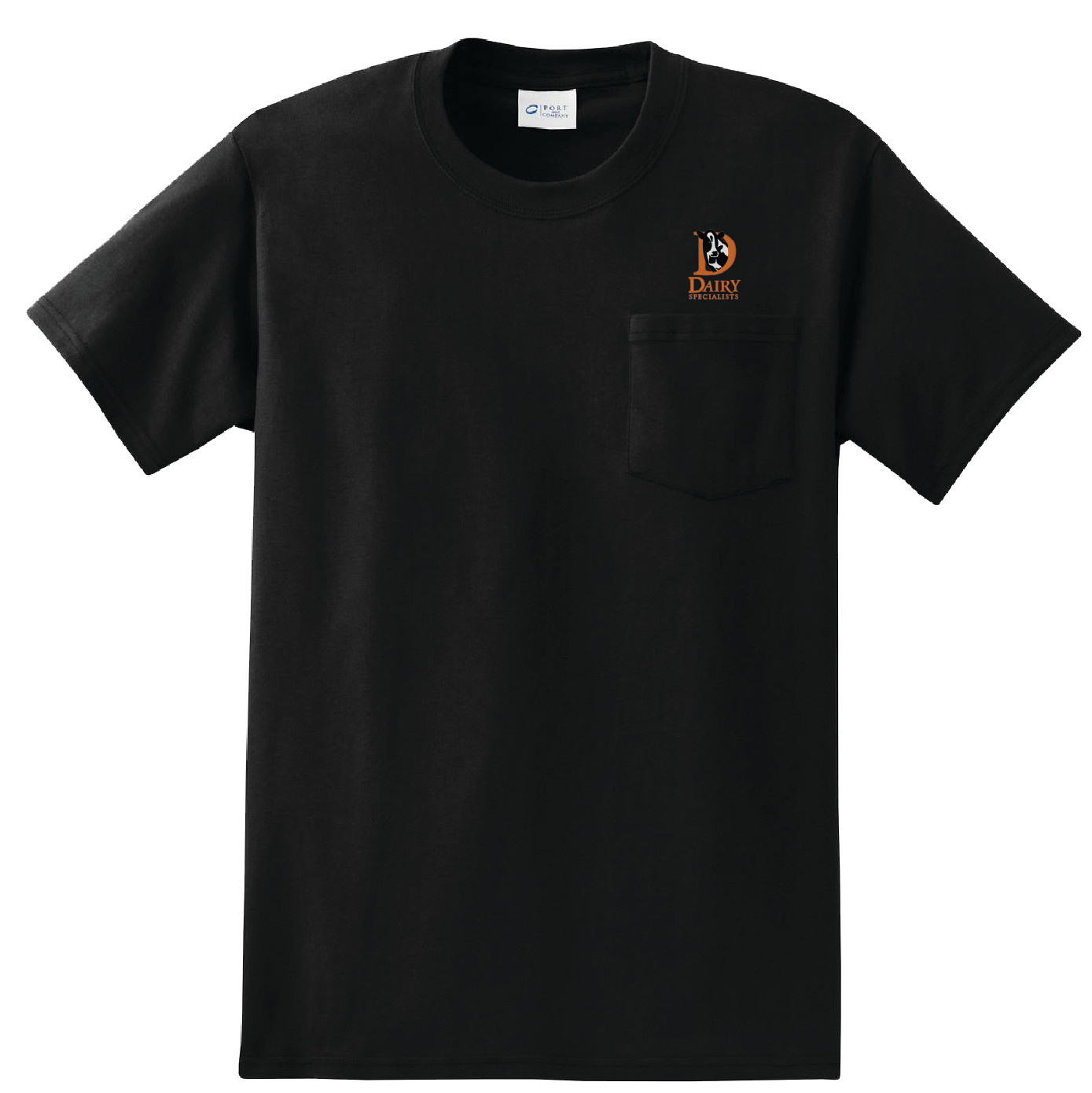 Port Authority Port & Company Essential Pocket Tee (Black)