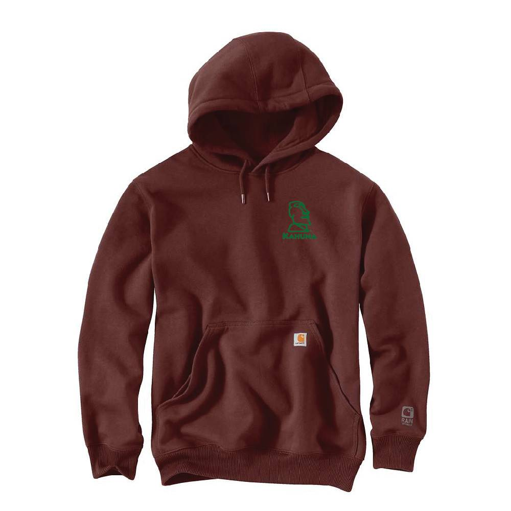 Carhartt Carhartt Rain Defender Paxton Heavyweight Hooded Sweatshirt (Dark Cedar w/green logo)