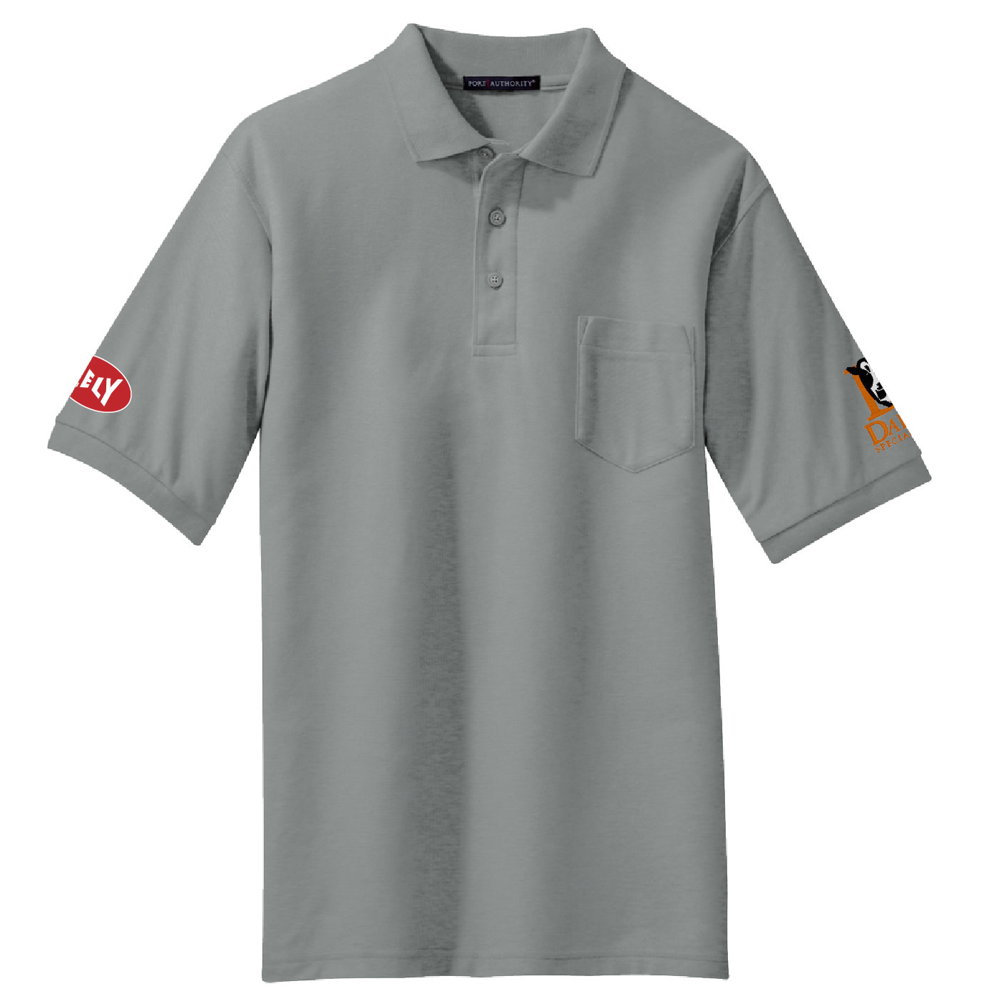Port Authority Port Authority Silk Touch Polo with Pocket (Cool Grey)