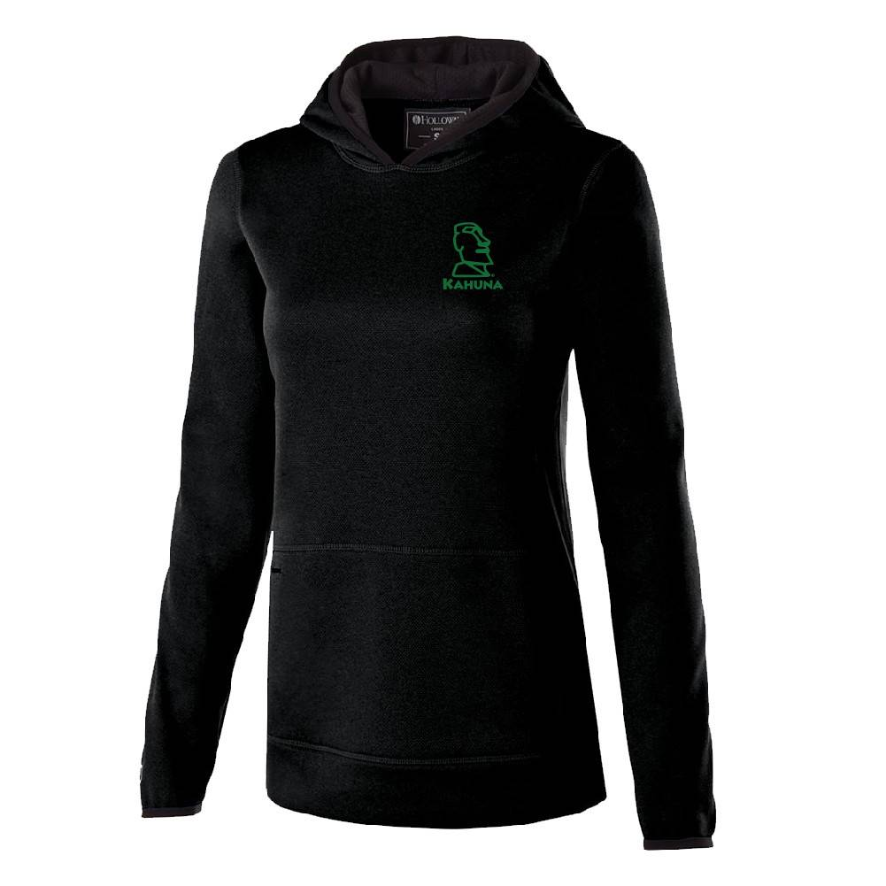 Holloway Holloway Ladies Artillery Hoodie (Black w/green logo)