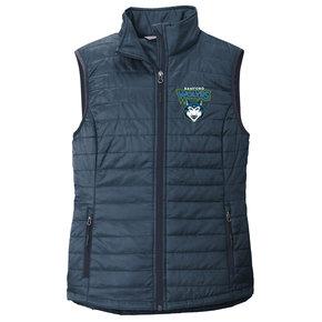 Port Authority Port Authority Ladies Packable Puffy Vest (Regatta Blue/River Blue)